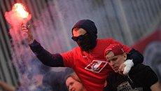 Болельщики Спартака во время матча. Архивное фото