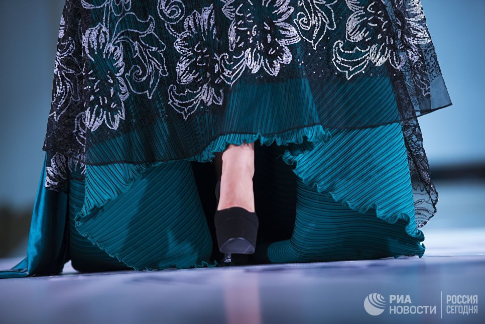 Участница конкурса красоты Красавица Кыргызстана в Бишкеке