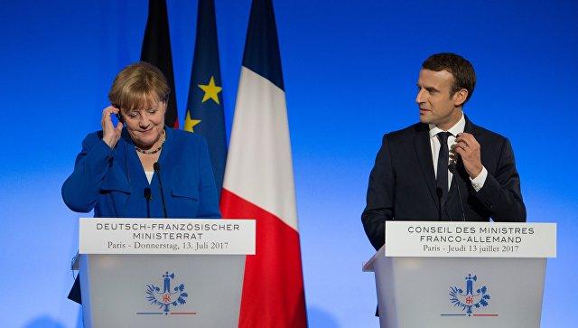 Донбасс. Макрон и Меркель высказались по ситуации на юго-востоке Украины