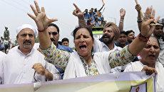 Протесты в Кашмире после убийства пилигримов