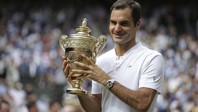 Роджер Федерер после победы на Уимблдоне