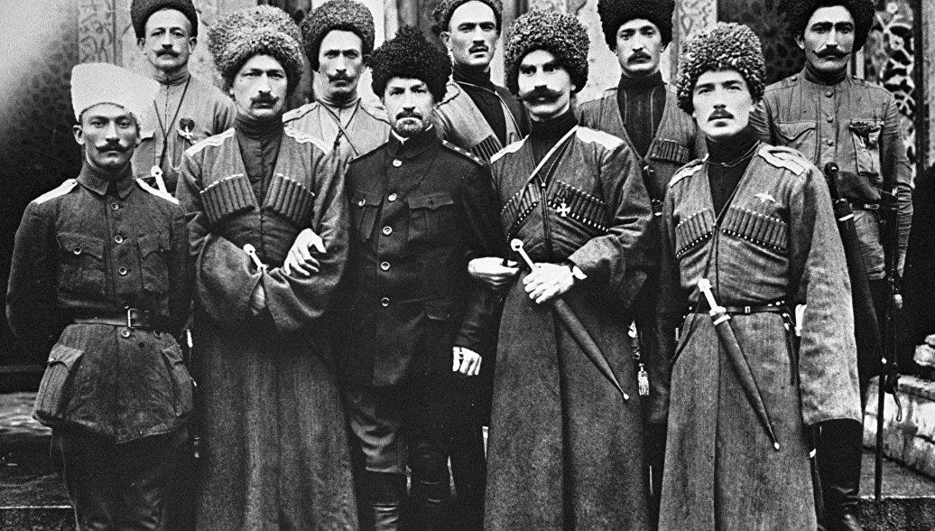 Офицеры Дикой дивизии генерала Корнилова