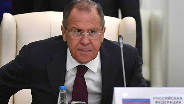 Министр иностранных дел РФ Сергей Лавров на заседании совета министров иностранных дел ОДКБ в Минске