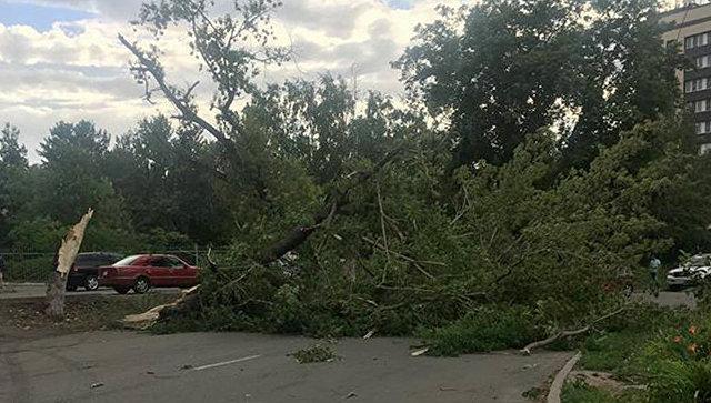 Последствия урагана в Усть-Каменогорске, Казахстан. 17 июля 2017