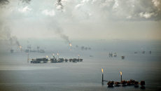 Добыча нефти в Мексиканском заливе. Архивное фото