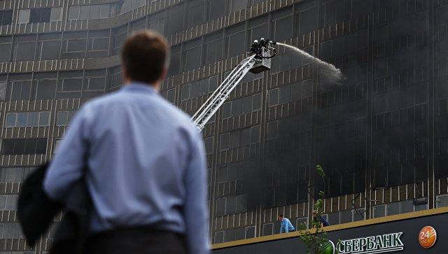 Пожар на улице Арбат