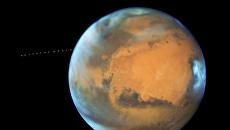 Фотографии Фобоса, движущегося вокруг Марса