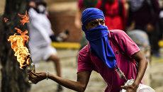 Беспорядки в Каракасе, Венесуэла. Архивное фото