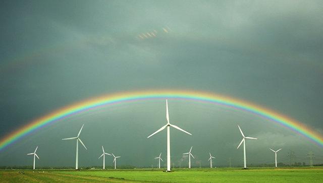 Ветряные электростанции. Архивное фото