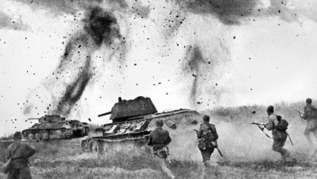 Курская дуга, бой под Прохоровкой. Архивное фото