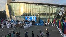 Во время церемонии конкурса Кубок моря в рамках Международных армейских игр в Баку