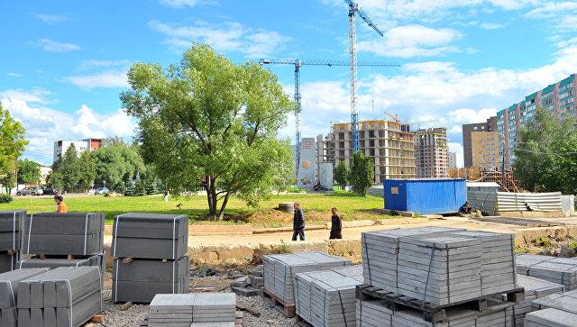 Одна из строительных площадок в поселке Коммунарка Московской области