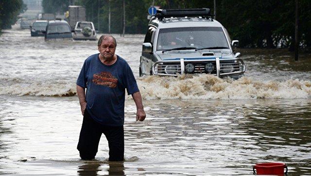 Последствия ливневых дождей в Приморье