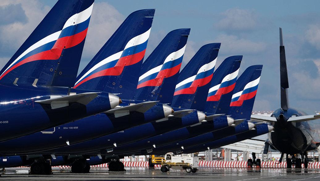 Самолеты Аэрофлота на стоянке в аэропорту Шереметьево. Архивное фото