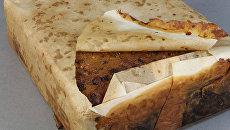 Пирог, найденный в хижине на мысе Адэр в восточной части Антарктиды