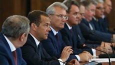 Премьер-министр РФ Дмитрий Медведев на встрече с партийным активом партии Единая Россия Приволжского федерального округа. 11 августа 2017