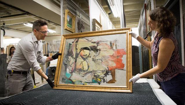 Картина Виллема де Кунинга Женщина – Охра