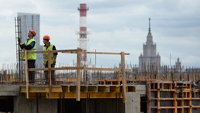 Строительство городского квартала Сердце столицы в Москве. Архивное фото