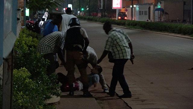 Ситуация после нападения боевиков на ресторан в Уагадугу, Буркина-Фасо. 14 августа 2017