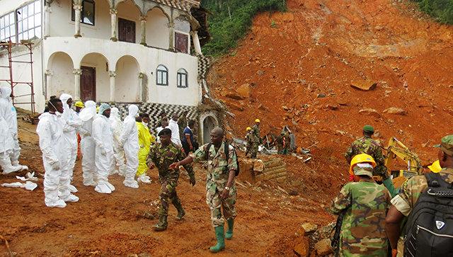 Число жертв оползней в столице Сьерра-Леоне превысило 350