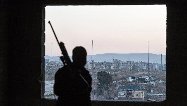 Джобар-район Дамаска контролируемый боевиками Джебхат ан-Нусры