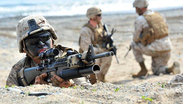 Морпехи США во время десантной операции. Архивное фото