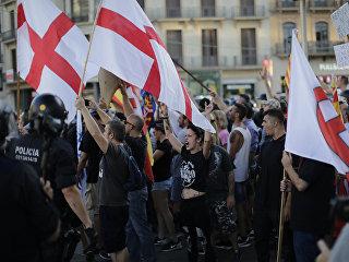 Митинг ультраправых активистов в Барселоне