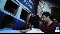 Крушение поезда в Индии. Скриншот видео