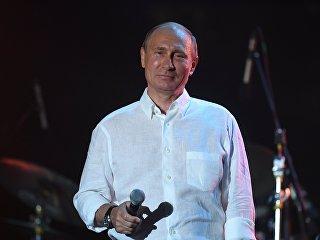 Президент РФ Владимир Путин во время посещения фестиваля Koktebel Jazz Party 2017