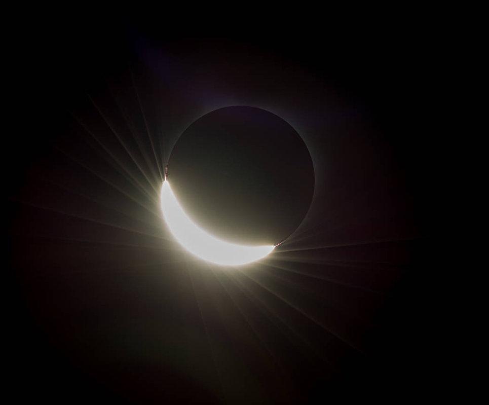 Солнце перед полным затмением над Орегоном. 21 августа 2017