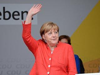 Канцлер Германии Ангела Меркель на встрече с избирателями в Мюнстере. 22 августа 2017. Архивное фото