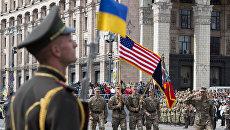 Военнослужащие стран НАТО на параде в честь Дня независимости в Киеве. Архивное фото