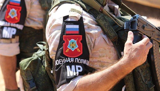 Военная полиция Вооружённых Сил Российской Федерации в провинции Алеппо, Сирия. Архивное фото