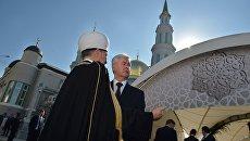 Открытие после реконструкции главной мечети Москвы. Архивное фото