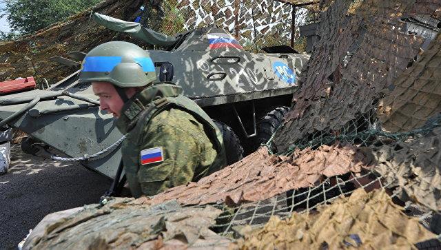 Российский миротворец на блокпосту в Приднестровье. Архивное фото