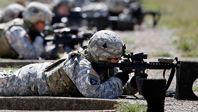 Военнослужащие армии США на военной базе Форт-Кемпбелл