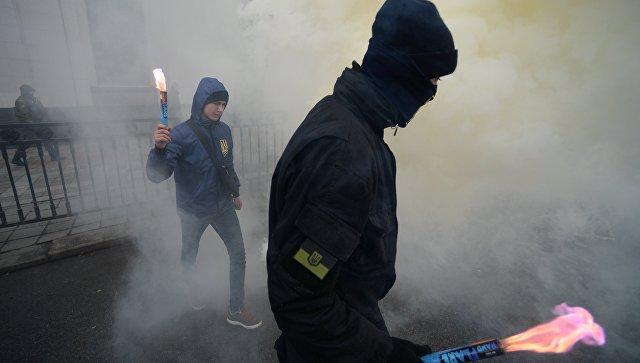Акции протеста в Киеве. Архивное фото
