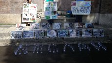 Акция памяти жертв теракта в Беслане в Риме. 3 сентября 2017 года