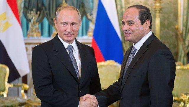 Президент России Владимир Путин и президент Арабской Республики Египет Абдель Фатах ас-Сиси, архивное фото.