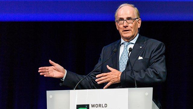 Ричард Макларен выступает с докладом во время ежегодного симпозиума WADA