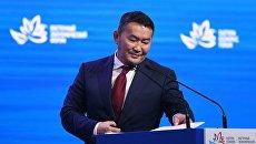 Президент Монголии Халтмагийн Баттулга на пленарном заседании III Восточного экономического форума во Владивостоке. 7 сентября 2017