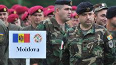 Военнослужащие ВС Молдовы на учениях НАТО. Архивное фото