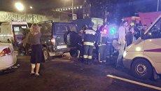 Последствия ДТП с участием семи автомобилей на Варшавском шоссе. 7 сентября 2017
