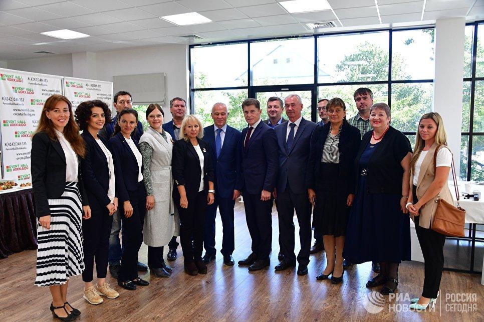 Журналисты из России и Белоруссии встретились с губернатором Сахалинской области и госсекретарем Союзного государства