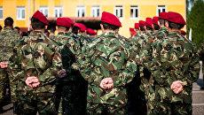 Молдавские военные принимают участия в совместных учениях Rapid Trident  на территории Украины. Архивное фото