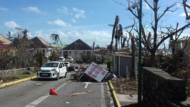 Завалы, образовавшиеся после урагана Ирма. Архивное фото