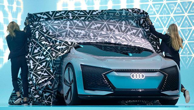 Концепт-кар Audi Aicon на Франкфуртском автосалоне. 12 сентября 2017