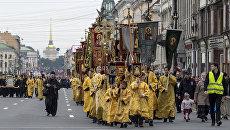 Крестный ход в честь Александра Невского в Санкт-Петербурге. 12 сентября 2017
