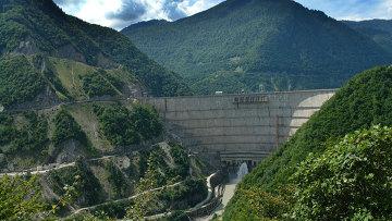 Ингурская ГЭС. Архивное фото