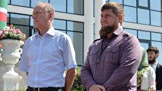 Секретарь Совета безопасности РФ Николай Патрушев и глава Чеченской Республики Рамзан Кадыров в Грозном. 12 сентября 2017